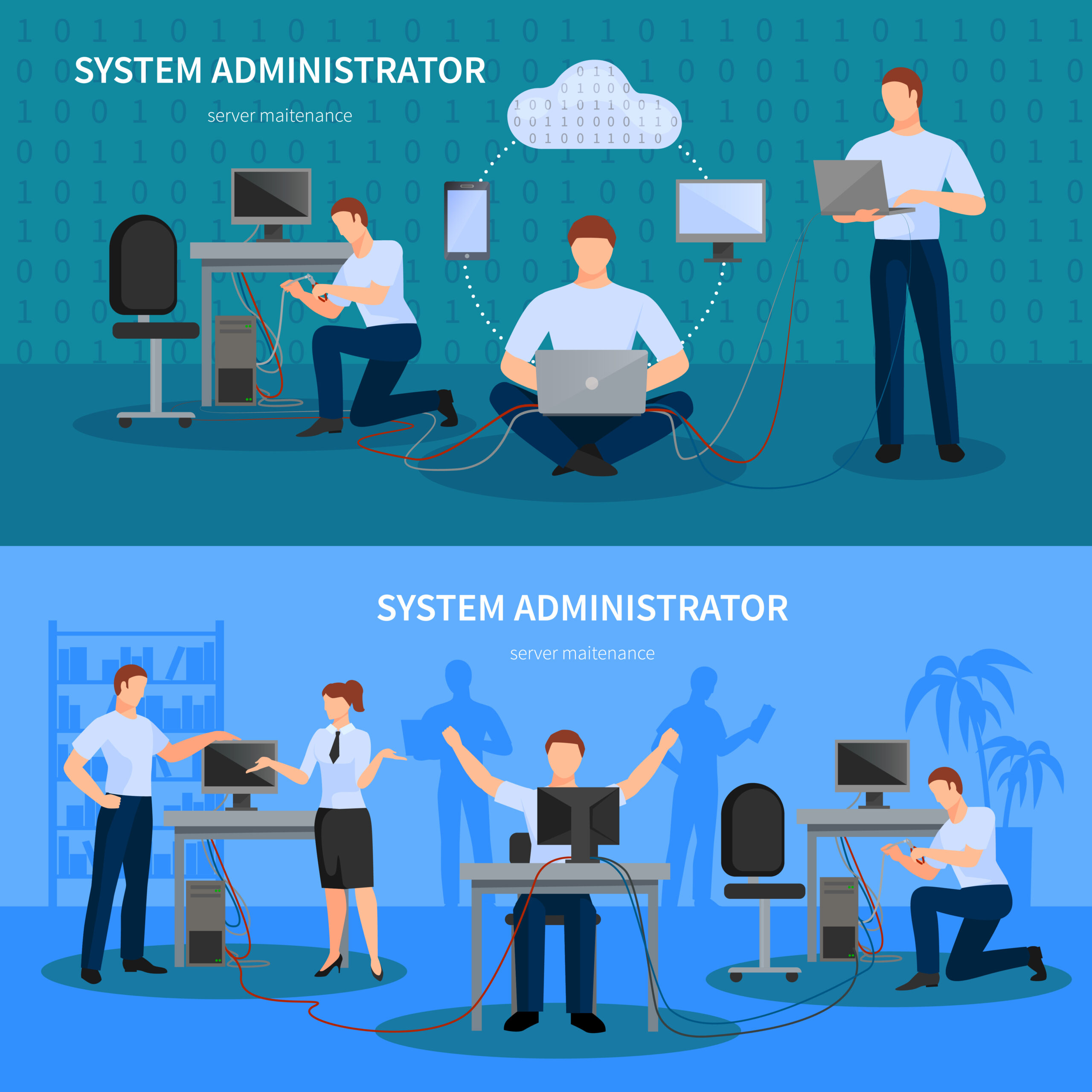 System Administrator Banners Set